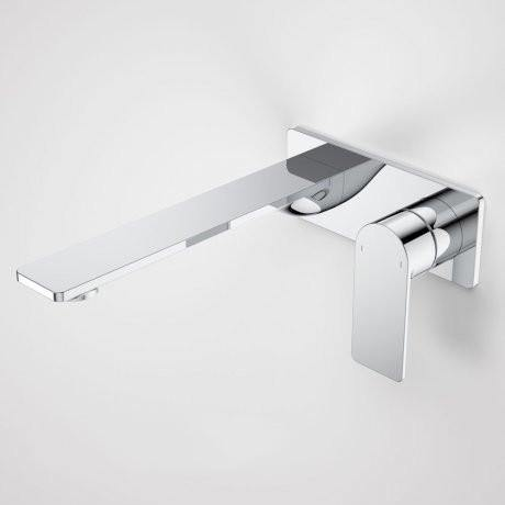 CAROMA-Caroma Urbane II 220mm Wall Basin/ Bath Mixer-Square Cover Plate - Brand_Caroma, Collection_Urbane II, Colour_ Matte Black, Colour_Brushed Gold, Colour_Brushed Nickel, Colour_Chrome, Colour_Gun Metal, Product Type_Wall Mixer Set, Room_Bathroom, Shape & Design_ Round & Square-Ideal Bathroom Centre