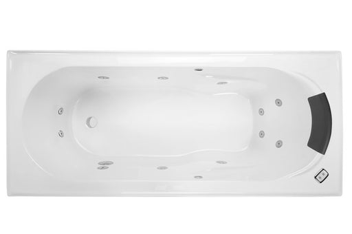 Decina Adtatto 1510/1650 Contour 12 Jets Spa Bath - Idealbathroomcentre