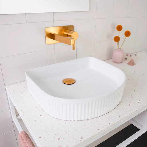 ADP Pill Fluted Ceramic Above Counter Basin