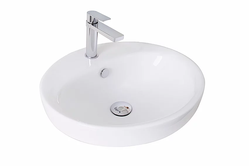 ADP-ADP Eye Ceramic Semi Inset Basin - Brand_ADP, Colour_Gloss White, Material_Ceramic, Product Type_Inset Basin, Shape & Design_Round, Shape & Design_Square-Ideal Bathroom Centre