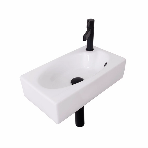 ADP-ADP Humphery Ceramic Wall Hung Basin - Brand_ADP, Colour_Gloss White, Material_Ceramic, Product Type_Wall Hung Basin, Shape & Design_Rectangle-Ideal Bathroom Centre