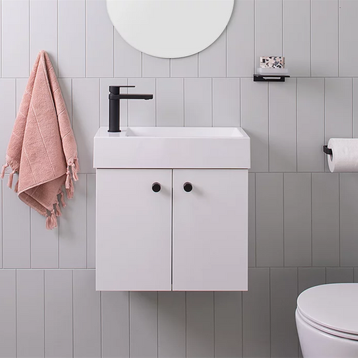 ADP-ADP Lily 500mm Small Space Vanity - Bathrooms > Vanities > Small Space Vanities, Brand_ADP, Colour_ Matte Black, Colour_Gloss White, Colour_Matte Grey, Colour_Matte White, Colour_Woodgrain, Product Type_ Freestanding Vanity, Product Type_ Small Space Vanity, Product Type_ Wall Hung Vanity, Size_500mm, Vanity Tops_ European Cast Marble-Ideal Bathroom Centre
