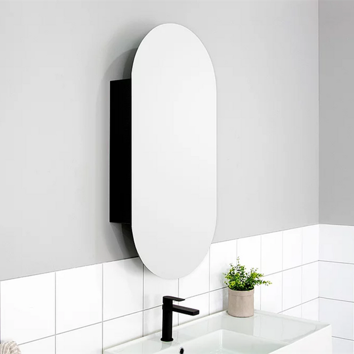 ADP-ADP Pill 450mm Shaving Cabinet - Bathrooms > Mirrors & Cabinets > Shaving Cabinets, Brand_ADP, Colour_ Matte Black, Colour_Gloss White, Colour_Matte Grey, Colour_Matte White, Colour_Woodgrain, Product Type_Shaving Cabinet, Size_450mm-Ideal Bathroom Centre