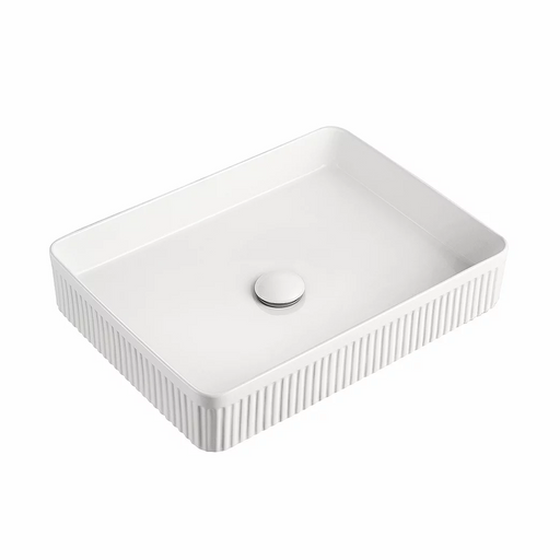 ADP Rectangular Fluted Ceramic Above Counter Basin