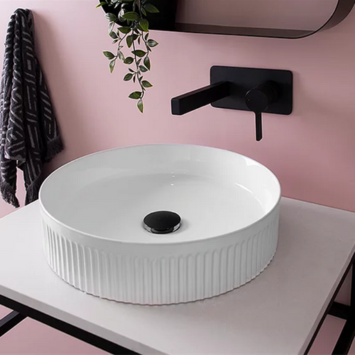 ADP Round Fluted Ceramic Above Counter Basin