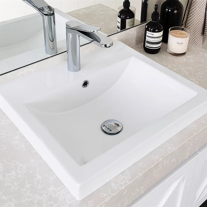 ADP-ADP Scoop Ceramic Semi Inset Basin - Brand_ADP, Colour_Gloss White, Material_Ceramic, Product Type_Inset Basin, Shape & Design_Square-Ideal Bathroom Centre