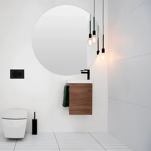 ADP-ADP Seek 400mm Small Space Vanity - Bathrooms > Vanities > Small Space Vanities, Brand_ADP, Colour_ Matte Black, Colour_Gloss White, Colour_Matte Grey, Colour_Matte White, Colour_Woodgrain, Product Type_ Small Space Vanity, Product Type_ Wall Hung Vanity, Size_400mm, Vanity Tops_ European Cast Marble-Ideal Bathroom Centre