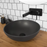 ADP-ADP Solar Ceramic Semi Inset Basin - Brand_ADP, Colour_ Matte Black, Colour_Gloss White, Material_Ceramic, Product Type_Above Counter Basin, Shape & Design_Round-Ideal Bathroom Centre
