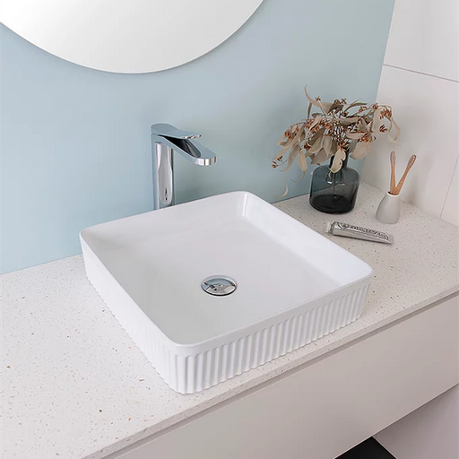 ADP Square Fluted Ceramic Above Counter Basin