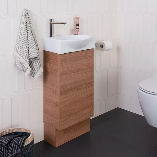 ADP-ADP Tiny 400mm Semi Recessed Small Space Vanity - Brand_ADP, Colour_ Matte Black, Colour_Gloss White, Colour_Matte Grey, Colour_Matte White, Colour_Woodgrain, Product Type_ Freestanding Vanity, Product Type_ Small Space Vanity, Product Type_ Wall Hung Vanity, Size_400mm, Vanity Tops_Ceramic Tops-Ideal Bathroom Centre