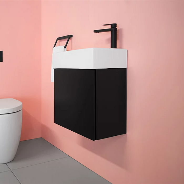 ADP-ADP Tiny 465mm Small Space Vanity - Brand_ADP, Colour_ Matte Black, Colour_Gloss White, Colour_Matte Grey, Colour_Matte White, Colour_Woodgrain, Product Type_ Freestanding Vanity, Product Type_ Small Space Vanity, Product Type_ Wall Hung Vanity, Size_465mm, Vanity Tops_Ceramic Tops-Ideal Bathroom Centre