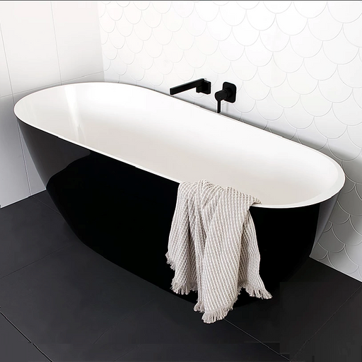ADP Day Dream 1700 Freestanding Bath Black & White