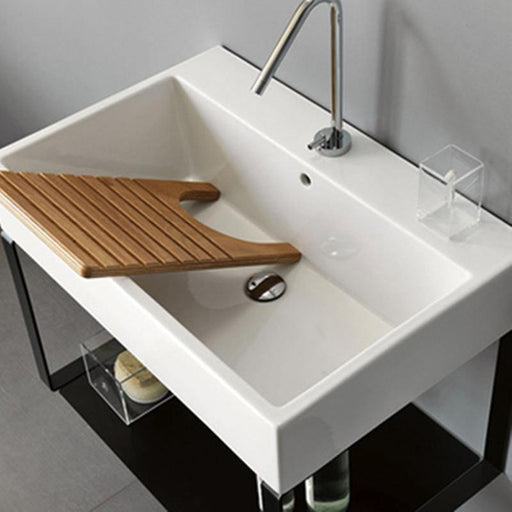 STUDIO BAGNO-Studio Bagno Acqua 750mm Basin - Basin, Bathroom, Brand_Studio Bagno, Colour_Gloss White, Material_Ceramic, Product Type_Above Counter Basin, Product Type_Console Basins, Product Type_Wall Hung Basin, Shape & Design_Square-Ideal Bathroom Centre