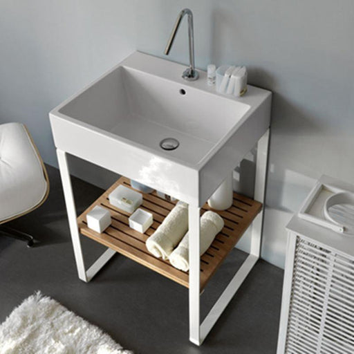 STUDIO BAGNO-Studio Bagno Acqua 500mm Basin - Basin, Bathroom, Brand_Studio Bagno, Colour_Gloss White, Material_Ceramic, Product Type_Above Counter Basin, Product Type_Console Basins, Product Type_Wall Hung Basin, Shape & Design_Square-Ideal Bathroom Centre