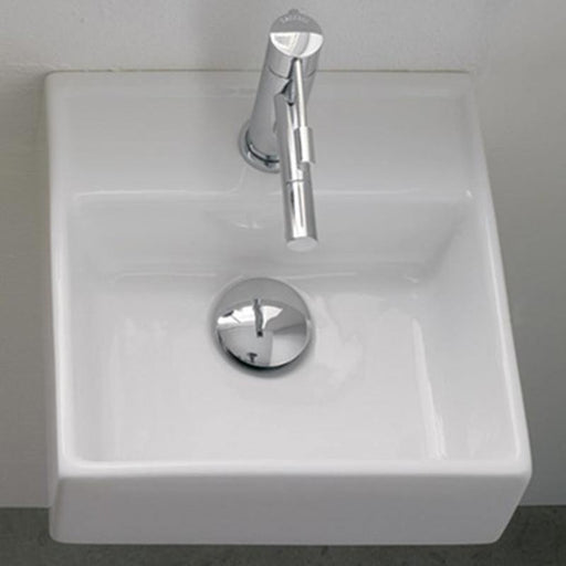 STUDIO BAGNO-Studio Bagno Apartment 300mm Basin - Brand_Studio Bagno, Colour_Gloss White, Material_Ceramic, Product Type_Above Counter Basin, Product Type_Wall Hung Basin, Shape & Design_Square-Ideal Bathroom Centre