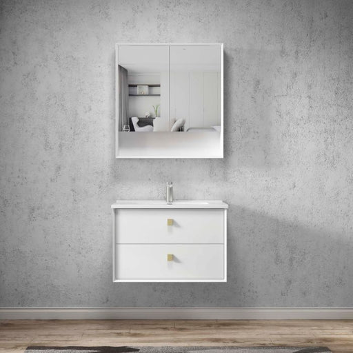 Otti Boston 750mm Shaving Cabinet Matte White - Idealbathroomcentre