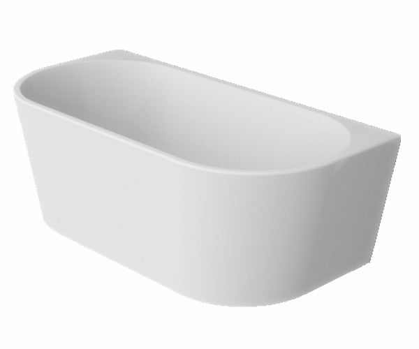 Cassa Design Auris Round Back to Wall Bath-Matte White - Idealbathroomcentre