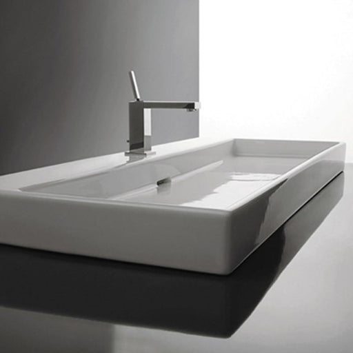 STUDIO BAGNO-Studio Bagno Berlin Two 1010mm Basin - Basin, Bathroom, Brand_Studio Bagno, Colour_ Matte Black, Colour_Gloss Black, Colour_Gloss White, Colour_Matte White, Material_Ceramic, Product Type_Above Counter Basin, Product Type_Wall Hung Basin, Shape & Design_Rectangle-Ideal Bathroom Centre