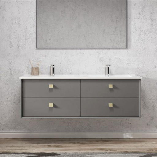 Otti Boston 1500mm Vanity Matte Grey - Idealbathroomcentre