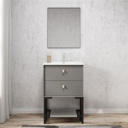 Otti Boston 600mm Vanity Matte Grey - Idealbathroomcentre
