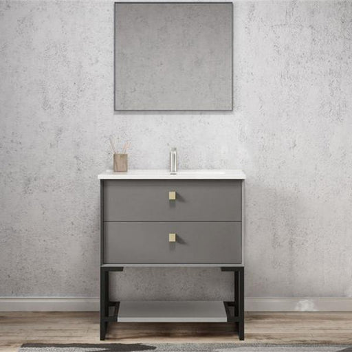 Otti Boston 750mm Vanity Matte Grey - Idealbathroomcentre