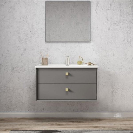 Otti Boston 900mm Vanity Matte Grey - Idealbathroomcentre