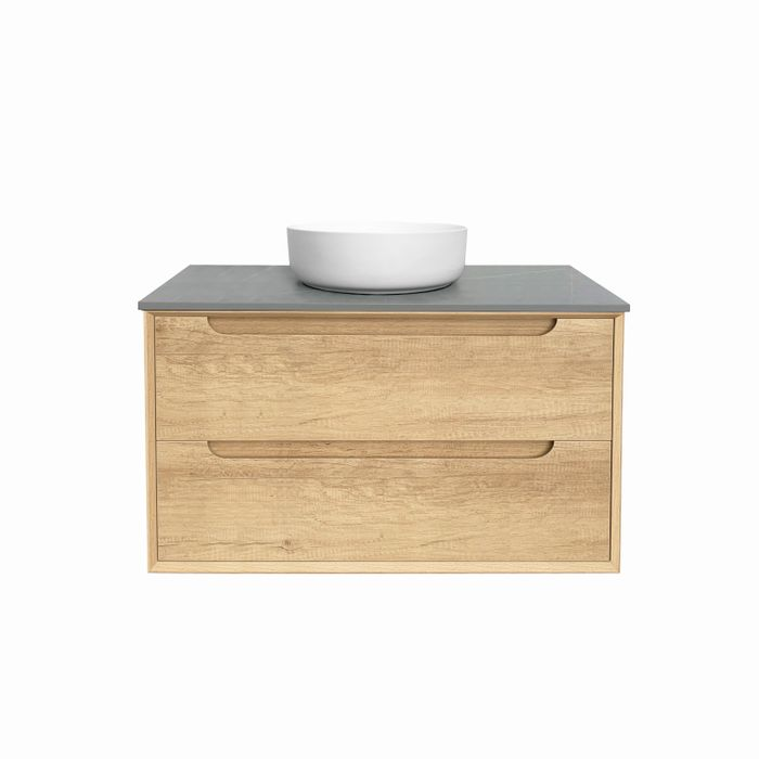 Otti Byron 900mm Vanity Natural Oak - Idealbathroomcentre