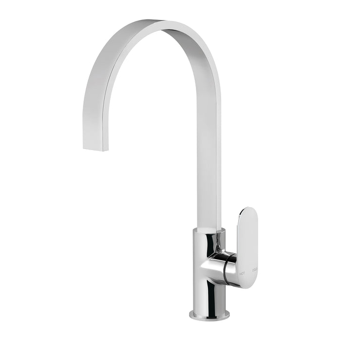 Phoenix Cerchio Sink Mixer 200mm Gooseneck - Idealbathroomcentre