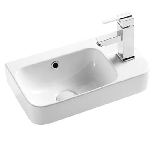 STUDIO BAGNO-Studio Bagno Capri 450mm Basin - Basin, Bathroom, Brand_Studio Bagno, Colour_Gloss White, Material_Ceramic, Product Type_Above Counter Basin, Product Type_Wall Hung Basin, Shape & Design_Soft Rectangular-Ideal Bathroom Centre