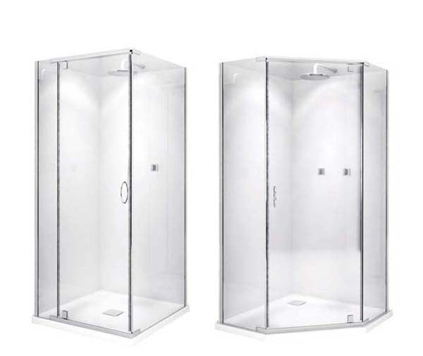 Decina Cascade Shower Screen 1000*1000*2000mm - Square - Idealbathroomcentre