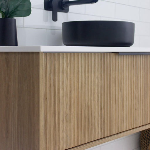 MARQUIS-Marquis Cove Wall Hung Vanity - Brand_Marquis, Colour_Woodgrain, Product Type_ Wall Hung Vanity, Size_1200mm, Size_1500mm, Size_1800mm, Size_600mm, Size_750mm, Size_900mm, Vanity Tops_Stone Tops-Ideal Bathroom Centre