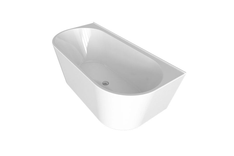 Decina Alegra Back To Wall Freestanding Bath - Idealbathroomcentre