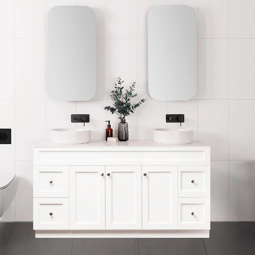 Milano Federation 1500mm  Freestanding Vanity Double Bowl - Idealbathroomcentre
