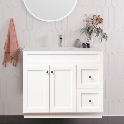 MILANO Federation 900mm Freestanding Vanity with Ceramic Basin