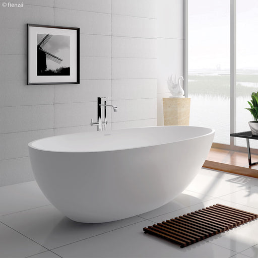 Fienza  Bahama 1500/1685 Matte White Stone Freestanding Bath - Idealbathroomcentre