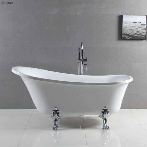 Fienza Clawfoot 1500/1700 Freestanding Acrylic Bath - Idealbathroomcentre