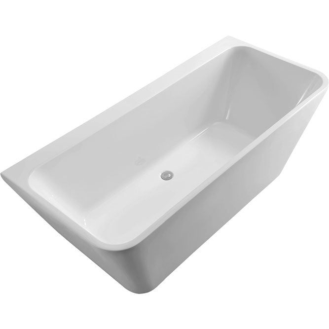Fienza Delta 1500 Back To Wall Acrylic Freestanding Bath - Idealbathroomcentre