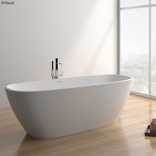 Fienza Marrisa 1700 Matte White Stone Freestanding Bath