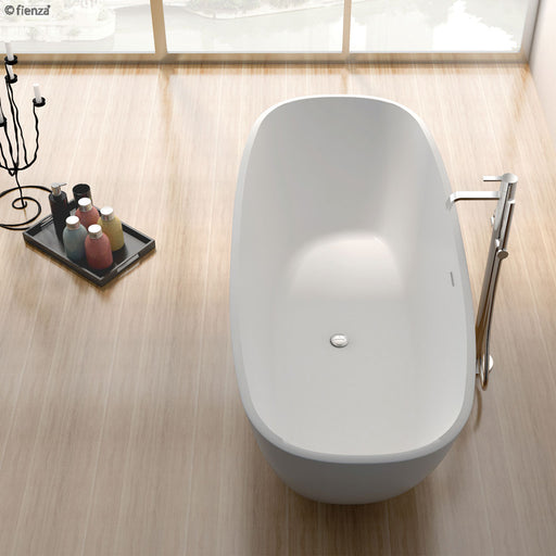 Fienza Marrisa 1700 Matte White Stone Freestanding Bath - Idealbathroomcentre