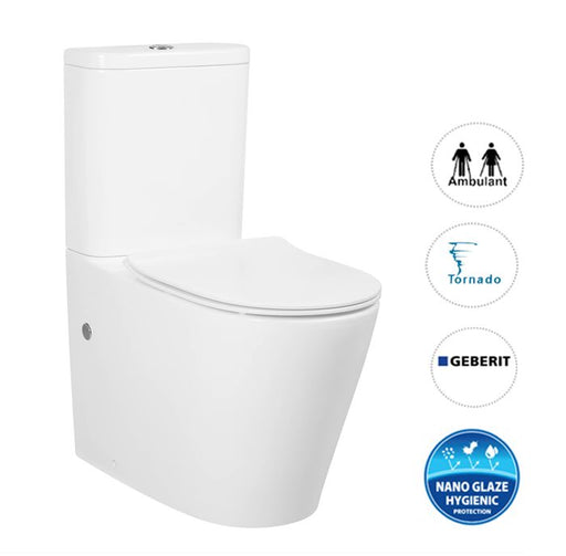 Oasis Rimless Back To Wall Toilet Suite