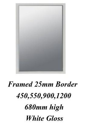 LEDIN Framed Mirror 900x680mm-White LDA90FMW - Idealbathroomcentre