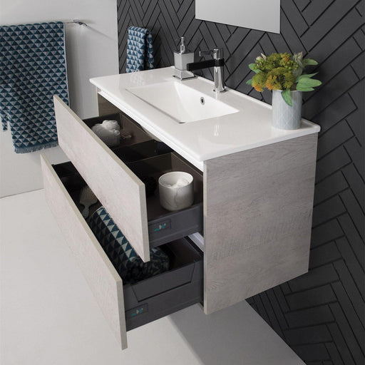 ADP Glacier Ceramic All Drawer Ensuite 750mm Twin Vanity