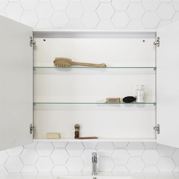 ADP Glacier 1200mm Shaving Cabinet, Double Shelves