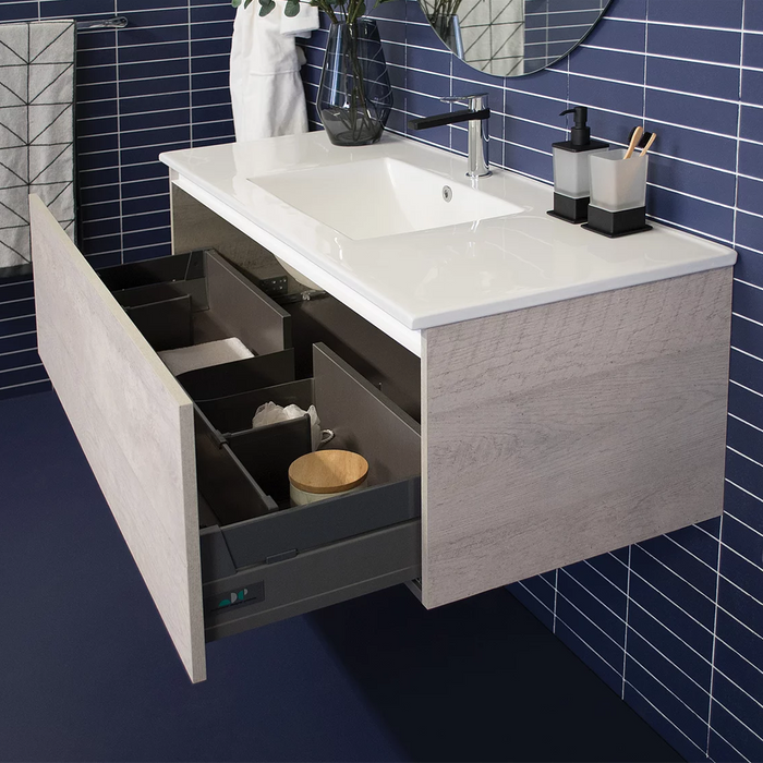 ADP Glacier Ceramic All Drawer 900mm  Vanity