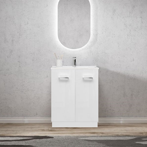 Elegant 600mm Handle Ceramic Freestanding Vanity - Idealbathroomcentre