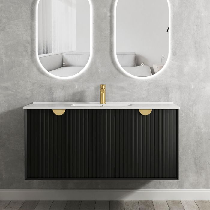 Otti Marlo 1200mm Wall Hung Vanity Matte Black