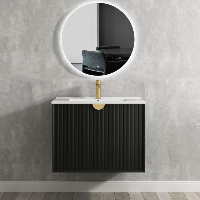 Otti Marlo 750mm Wall Hung Vanity Matte Black