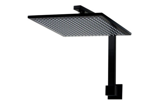 Linsol Joseph Matt Black Wall Arm Fixed With Showerhead