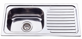 Classic Drop-in Kitchen Sink -  760x360x170mm - Idealbathroomcentre