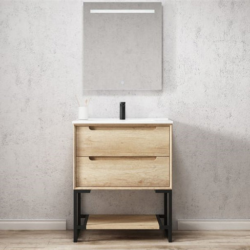 Otti Byron 750mm Vanity Natural Oak - Idealbathroomcentre
